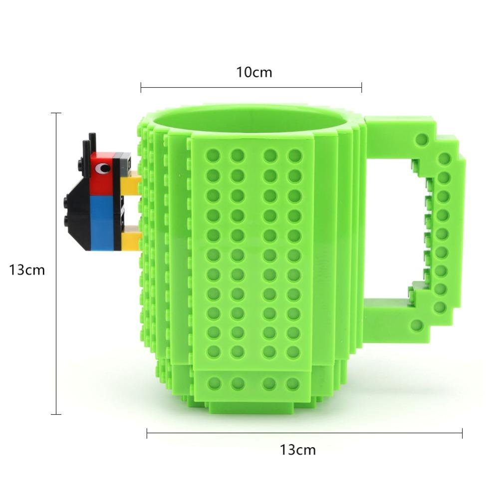 Creative Build-on Brick Mug Mug GEEKS1024 Green