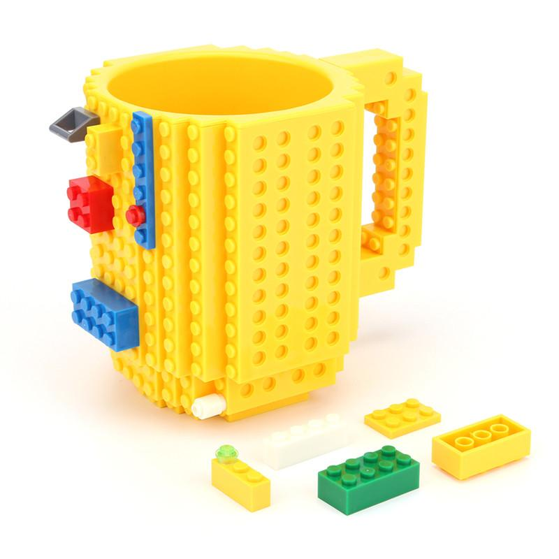 Creative Build-on Brick Mug Mug GEEKS1024 Yellow