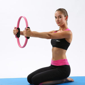 Dual Grip Yoga Training Ring Training Ring InspirExpress Pink