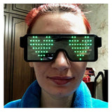 Flash Led Party Glasses Glasses InspirExpress Green