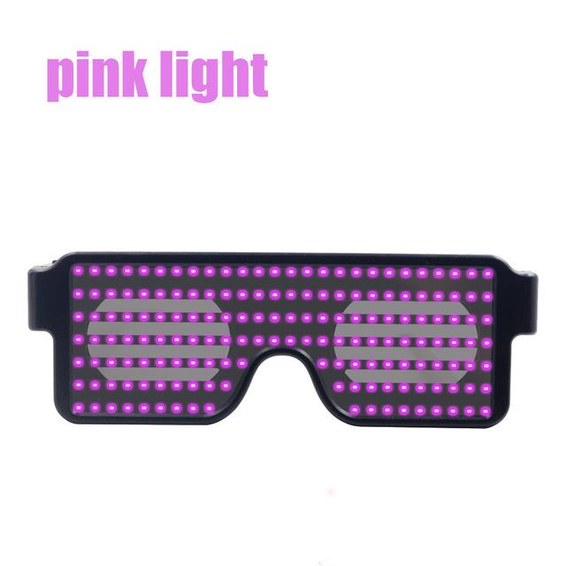 Flash Led Party Glasses Glasses InspirExpress PInk