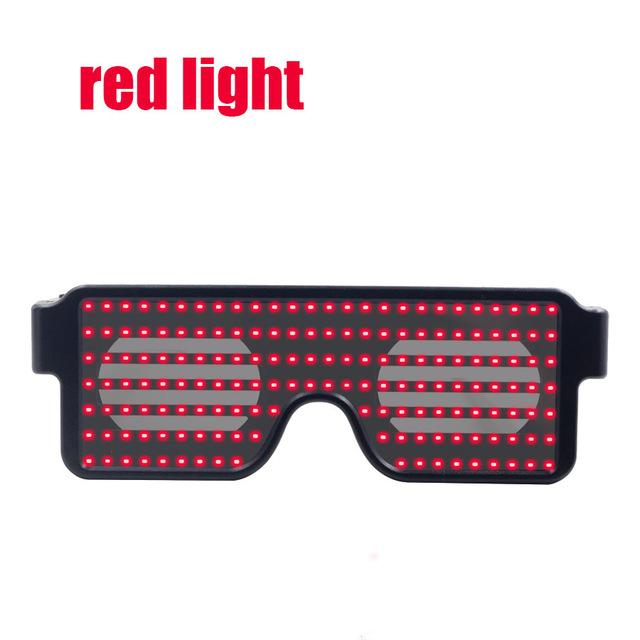 Flash Led Party Glasses Glasses InspirExpress Red