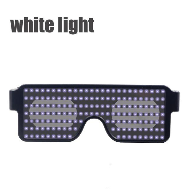 Flash Led Party Glasses Glasses InspirExpress White