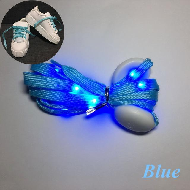Flash Light Shoelaces Shoelaces InspirExpress Blue
