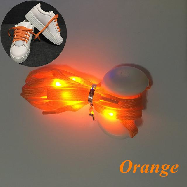 Flash Light Shoelaces Shoelaces InspirExpress Orange