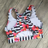 Floral Pocket Sporty Bra Sporty Bra InspirExpress