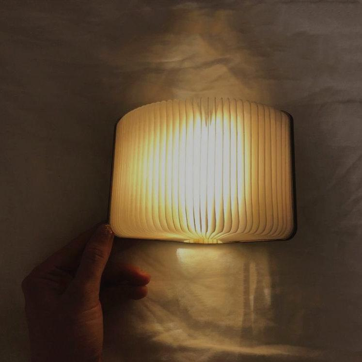Foldable Wooden Book Lamp Lamp InspirExpress