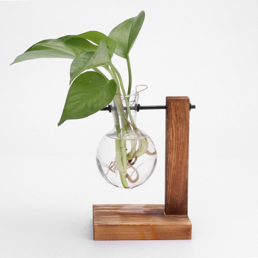 Glass and Wood Plant Hanging Pots Plant Pot InspirExpress 1 Pot Style 2