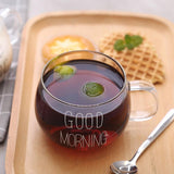 Load image into Gallery viewer, Good Morning Glass Cup Mug InspirExpress