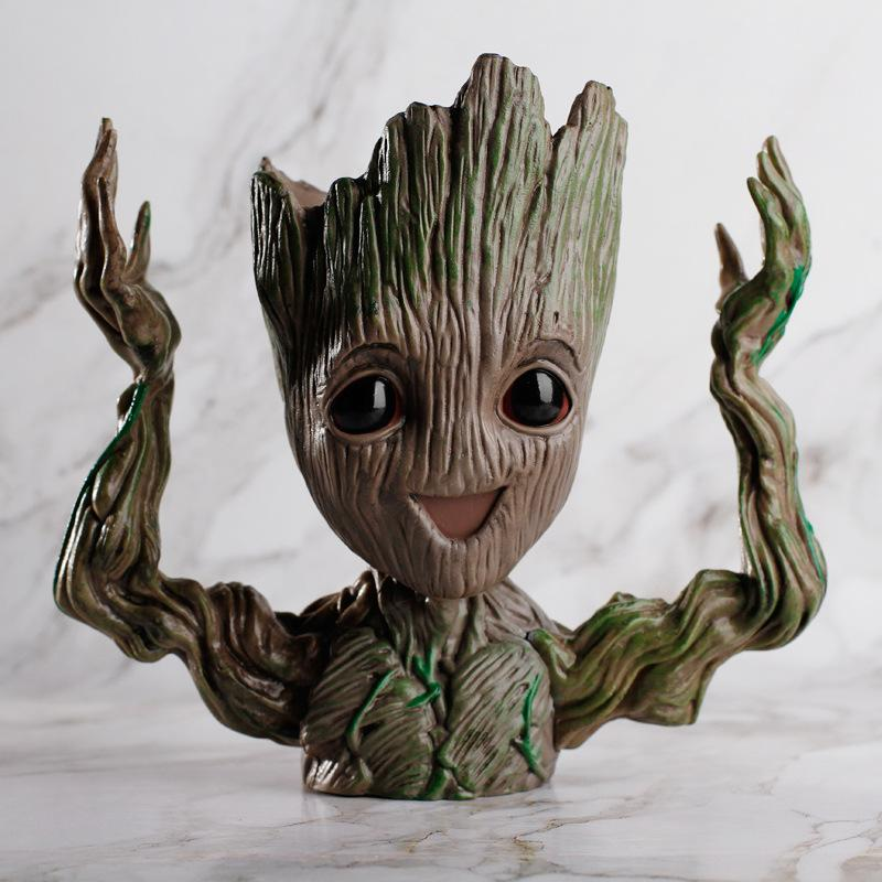 Groot Man Planter Pot Pot InspirExpress Excited Groot