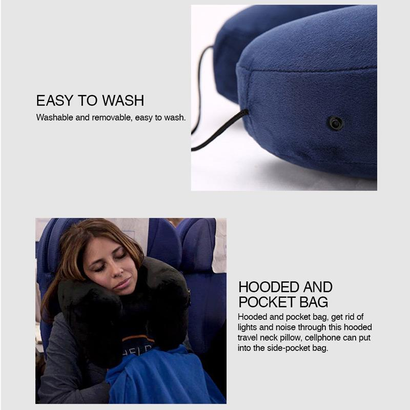 H Shape Inflatable Travel Pillow Pillow GEEKS1024