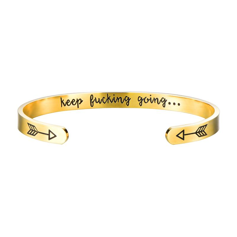 Inspirational Bangle Bangle InspirExpress Golden