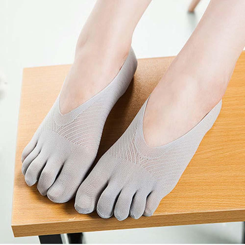Invisible Five Toe Boat Socks Socks InspirExpress Light Gray