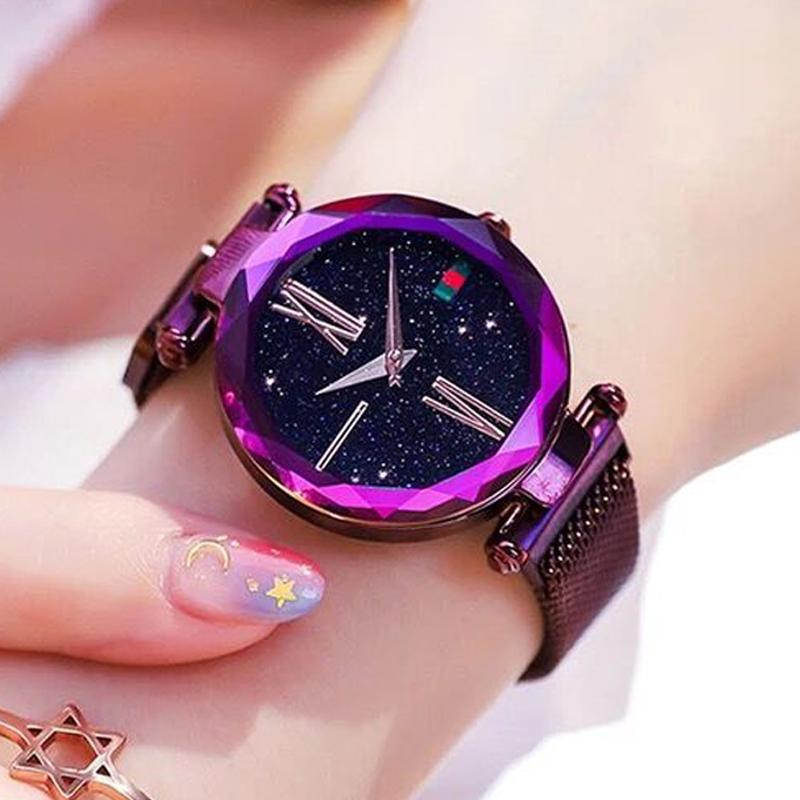 Magnetic Strap Watch Watch InspirExpress Purple