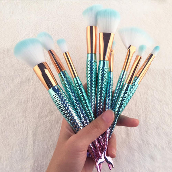 Mermaid Make Up Brushes Set