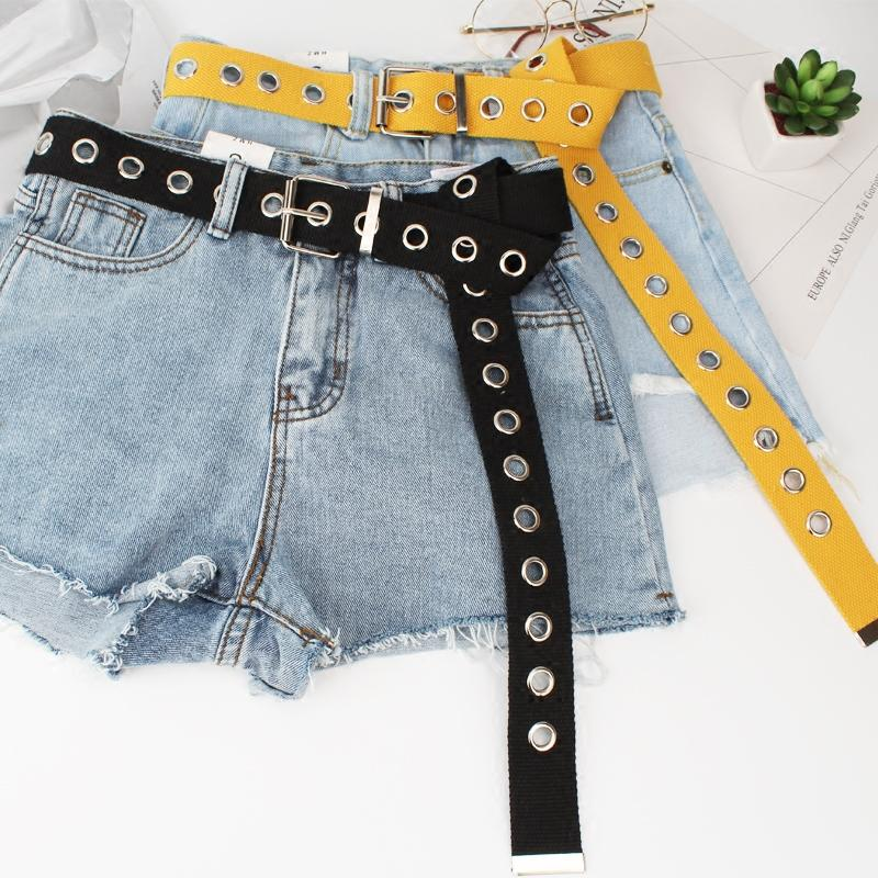 Metal Hole Canvas Belt Belt GEEKS1024