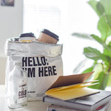 Nordic Kraft Paper Bag Bag InspirExpress Hello IM Here