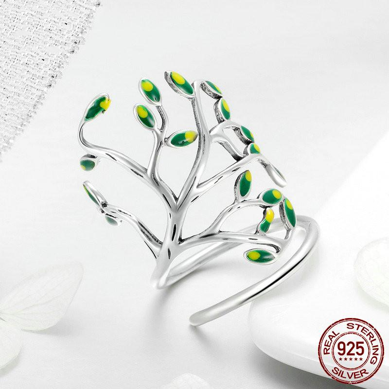 Olive Tree Silver Ring Ring InspirExpress