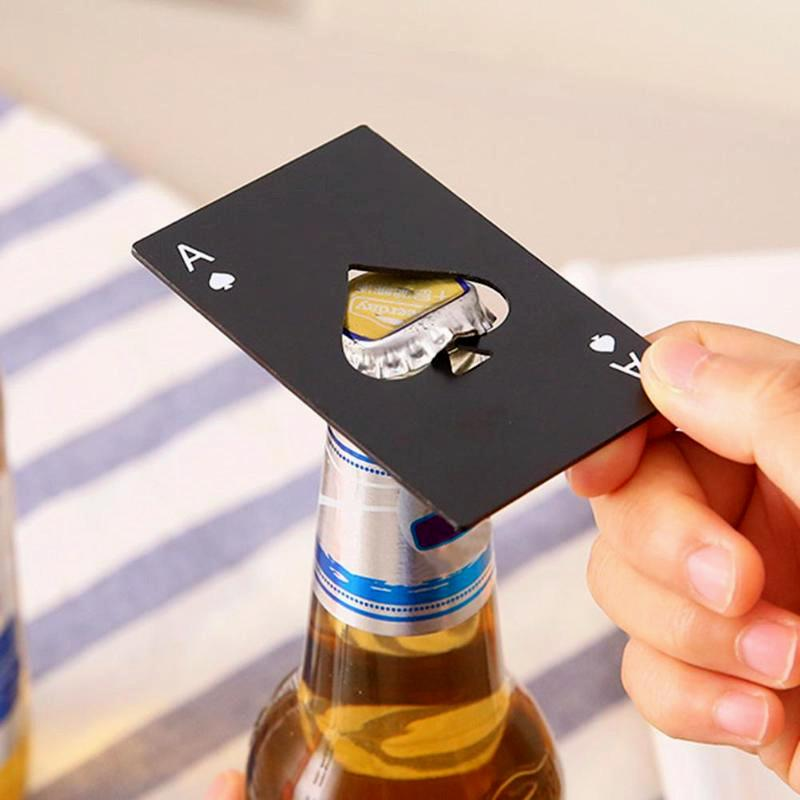 Poker Card Beer Bottle Opener Opener InspirExpress Black