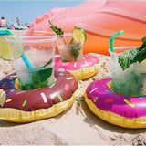 Pool Party Cup Holders Pool GEEKS1024 Frosted Donut