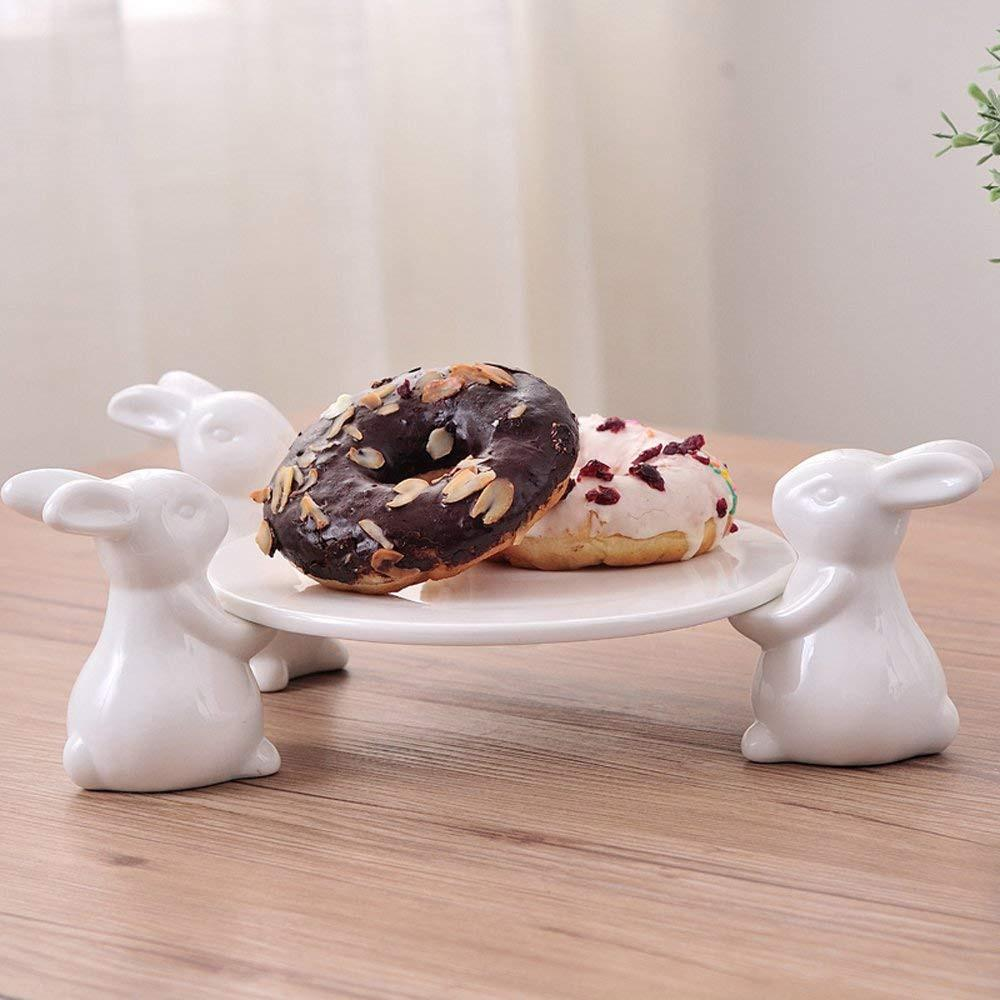 Porcelain Rabbit Cake Stand Cake Stand InspirExpress