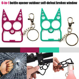 Portable Multifunction Cat Keychain Key InspirExpress Black