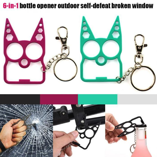 Portable Multifunction Cat Keychain