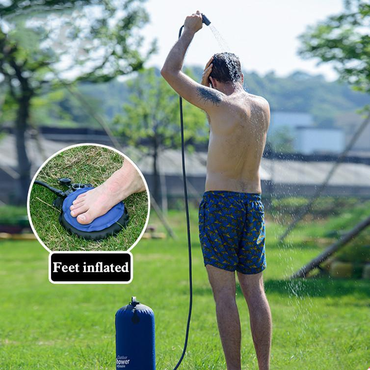 Portable Outdoor Shower Shower InspirExpress Blue