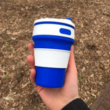 Silicon Reusable Cup Cup InspirExpress Blue