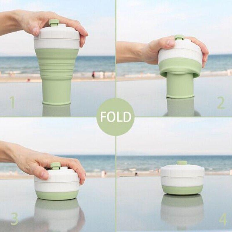 Silicon Reusable Cup Cup InspirExpress Green