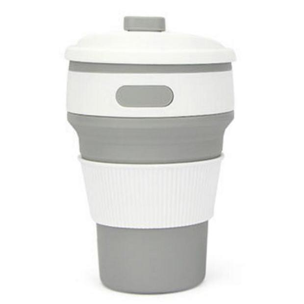 Silicon Reusable Cup Cup InspirExpress Grey