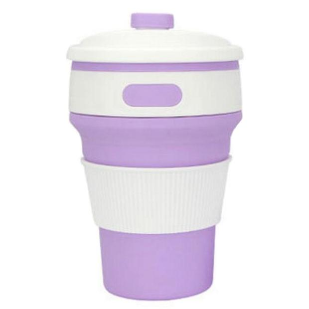 Silicon Reusable Cup Cup InspirExpress Purple