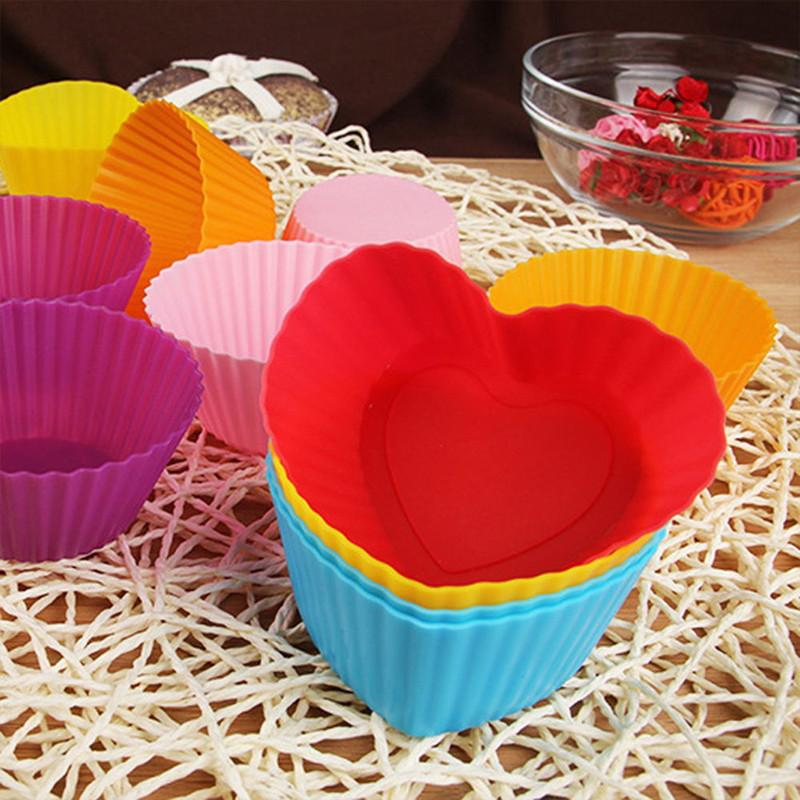 Silicone Cupcake Molds 12Pcs Cupcake Molds InspirExpress
