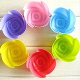 Silicone Cupcake Molds 12Pcs Cupcake Molds InspirExpress Flowers