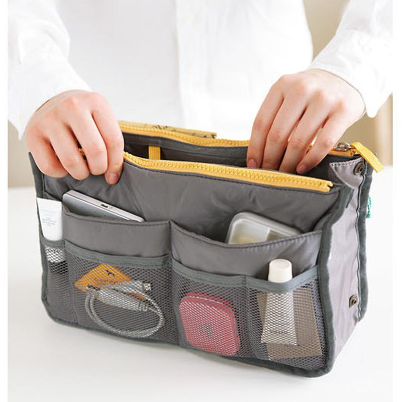 Travel Organizer Handbag Handbag GEEKS1024 Grey