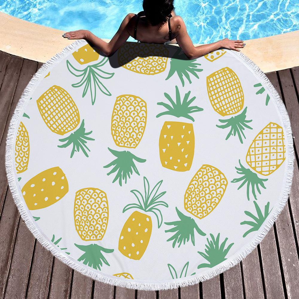 Tropical Leaves Beach Towel Towel InspirExpress 10