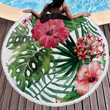 Tropical Leaves Beach Towel Towel InspirExpress 2