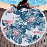 Tropical Leaves Beach Towel Towel InspirExpress 3