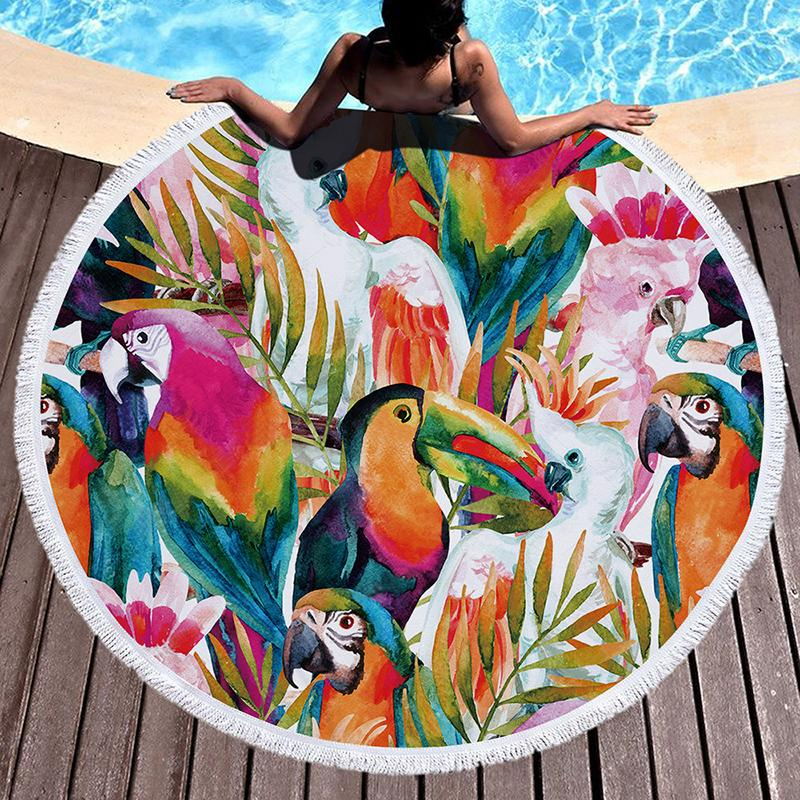 Tropical Leaves Beach Towel Towel InspirExpress 6