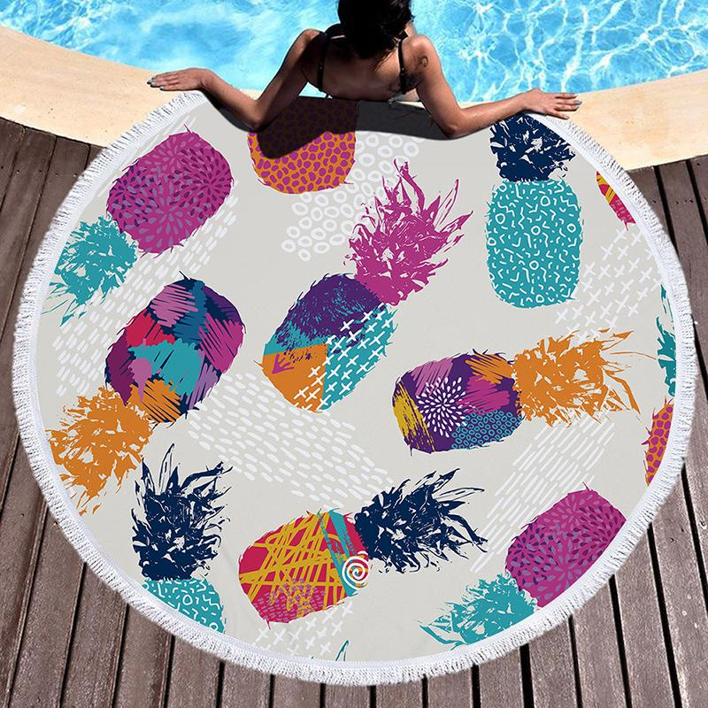 Tropical Leaves Beach Towel Towel InspirExpress 8