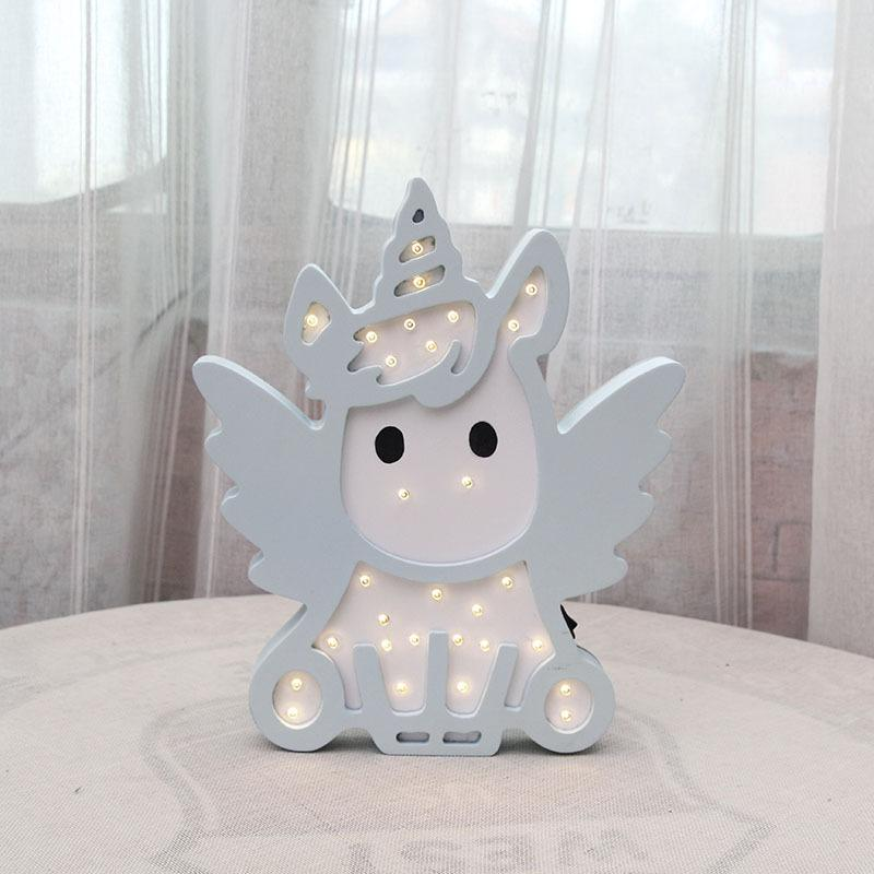 Unicorn LED Light Light InspirExpress Blue