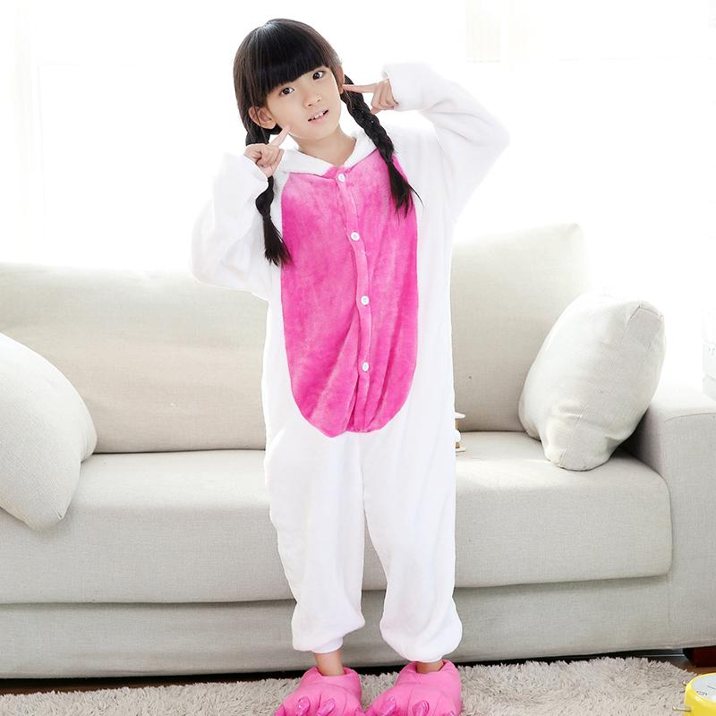 Unicorn Onesie Pajamas Pajamas InspirExpress 4T Dark Pink