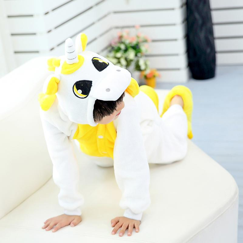 Unicorn Onesie Pajamas Pajamas InspirExpress 4T Yellow