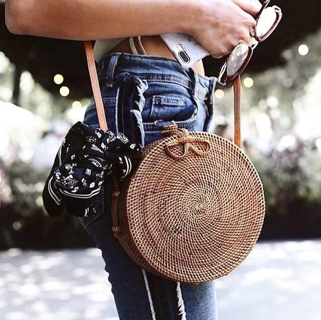 Vacation Straw Bag Bag GEEKS1024 Bow
