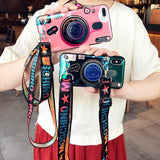 Vintage Camera lanyard Case Phone Case InspirExpress