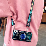 Load image into Gallery viewer, Vintage Camera lanyard Case Phone Case InspirExpress Blue iPhone 6/6s