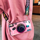 Load image into Gallery viewer, Vintage Camera lanyard Case Phone Case InspirExpress Pink iPhone 6/6s