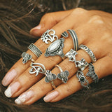 Load image into Gallery viewer, Vintage Knuckle Ring Set Ring InspirExpress style 23