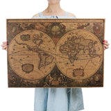 Vintage Nautical World Map Poster Map GEEKS1024 style 2