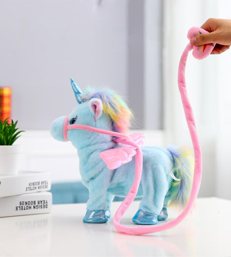 Walking & Singing Unicorn Toy GEEKS1024 Blue